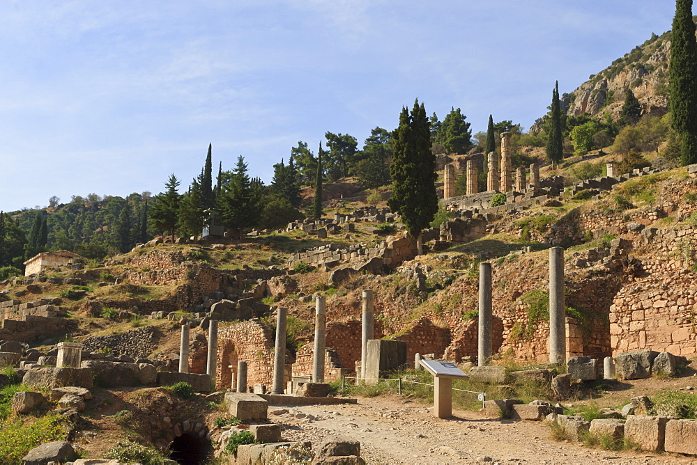 Delphi, UNESCO World Heritage Site, Peloponnese, Greece, Europe