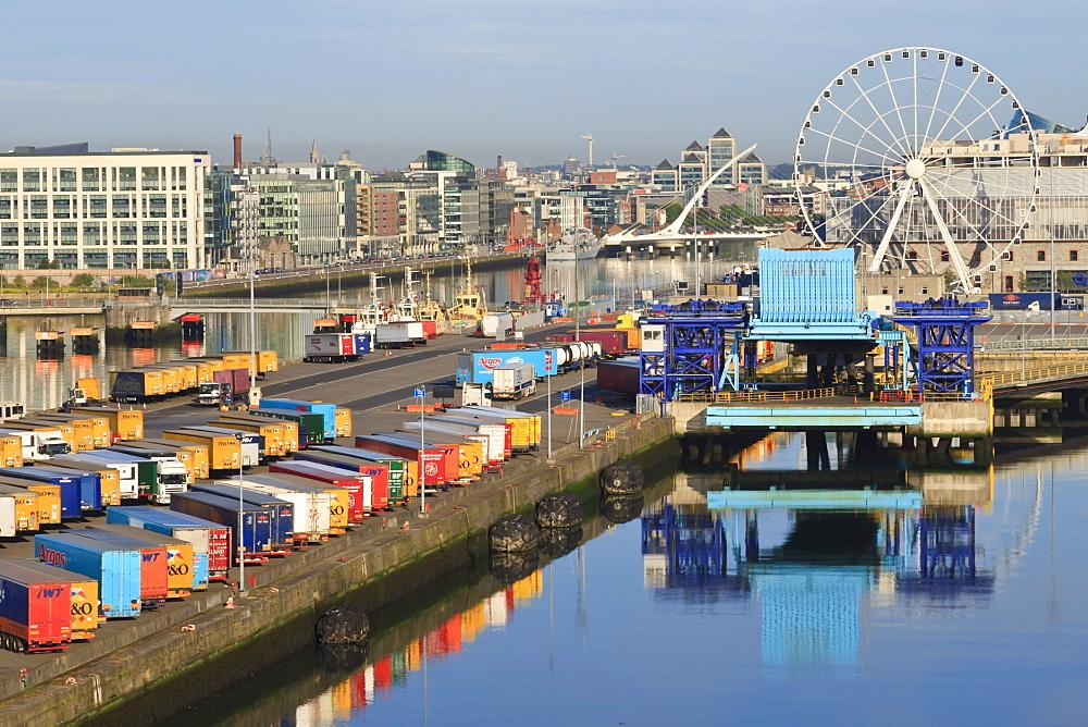 Port of Dublin reflections, Dublin, Republic of Ireland, Europe