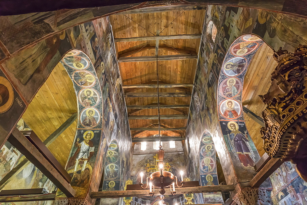 Interior, 16th to 18th century murals and frescoes, Church of Sveti Stefan (St. Stephen), Nesebar (Nessebar), UNESCO World Heritage Site, Bulgaria, Europe