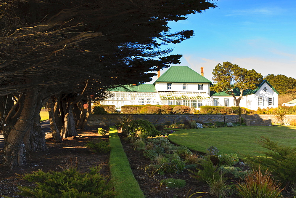 Governor's Residence and garden, Stanley, East Falkland, Falkland Islands, South America
