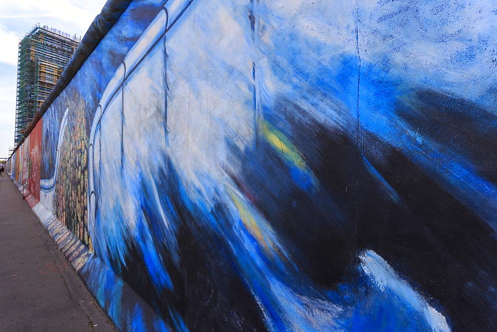 Murals, Berlin Wall, East Side Gallery, Muhlenstrasse, Friedrichshain, Berlin, Germany, Europe