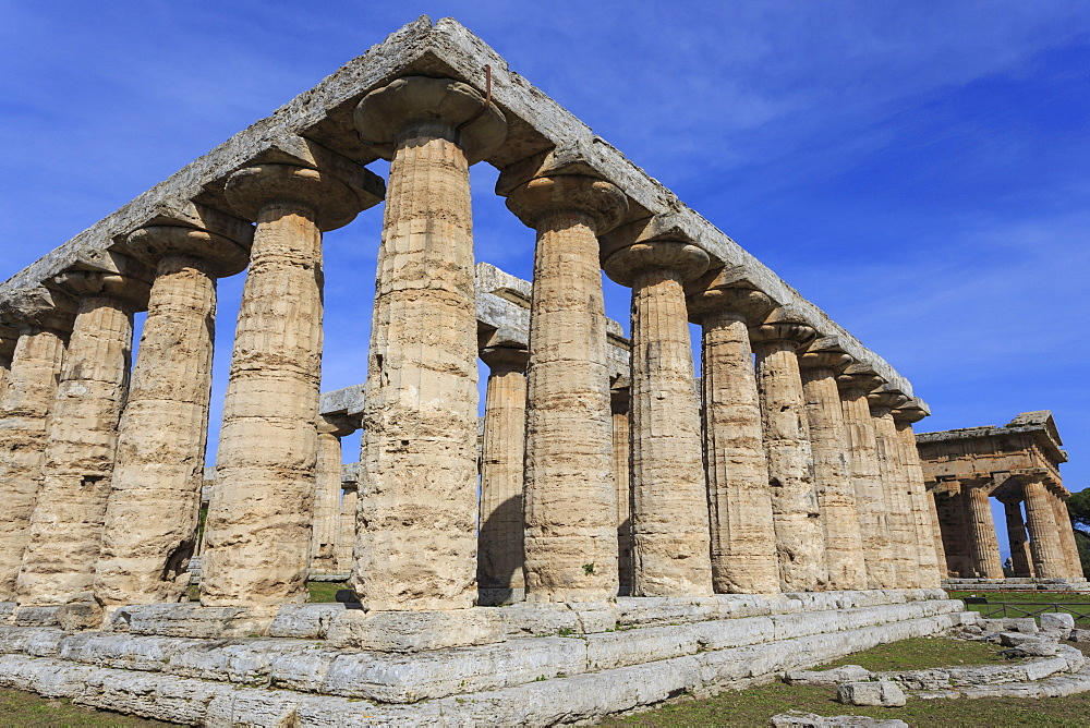 Greek temples of Hera and Neptune, UNESCO World Heritage Site, Campania, Italy, Europe