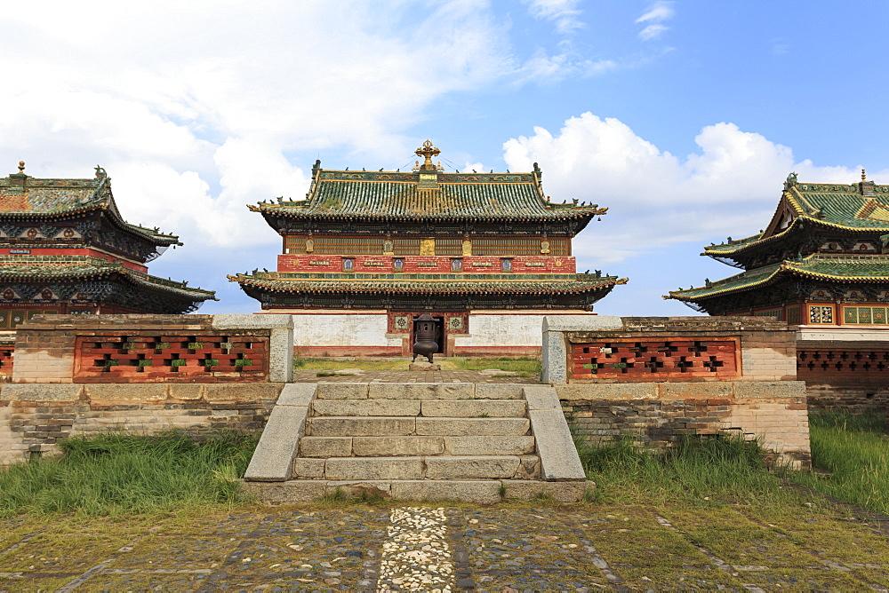 Zuu of Buddha temple, Erdene Zuu Khiid, Buddhist Monastery, Kharkhorin (Karakorum), Central Mongolia, Central Asia, Asia