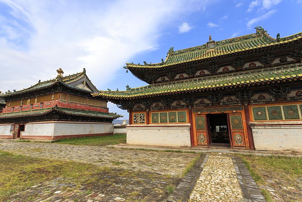 Zuun Zuu temple, Erdene Zuu Khiid, Buddhist Monastery, Kharkhorin (Karakorum), Central Mongolia, Central Asia, Asia