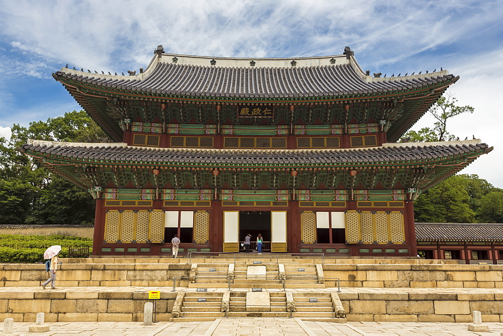 Injeongjeon main palace building, Changdeokgung Palace, UNESCO World Heritage Site, Seoul, South Korea, Asia