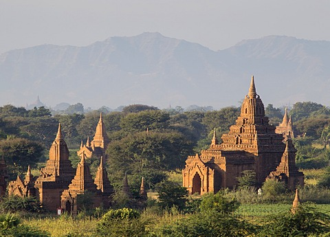 Temples, Bagan (Pagan), Myanmar (Burma), Asia