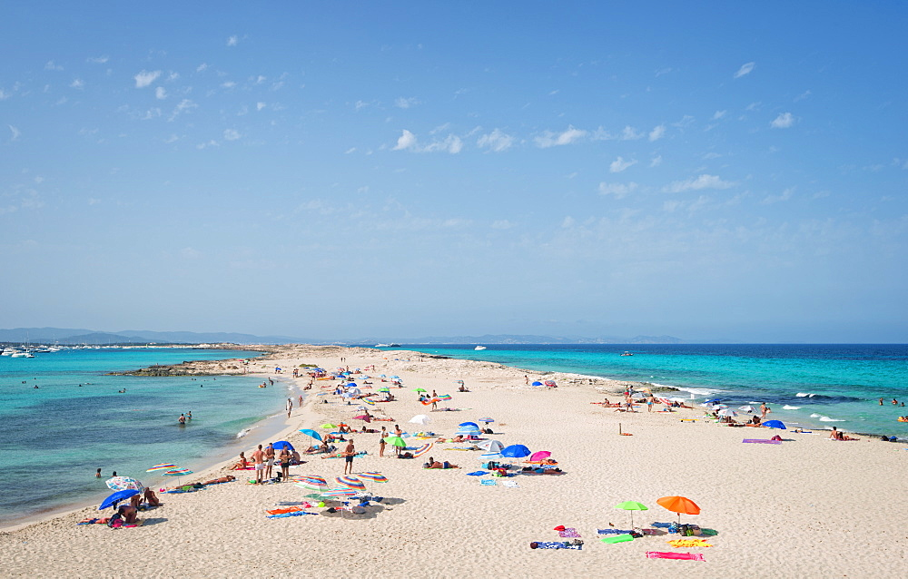 Ses Ilettes, Infinity Beach on Formentera, Balearic Islands, Spain, Mediterranean, Europe - 1171-206