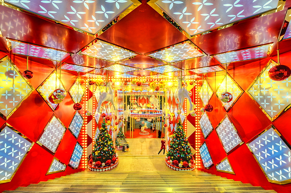 Christmas at Cloud Nine Shopping Mall in Jingan district, Shanghai, China, Asia