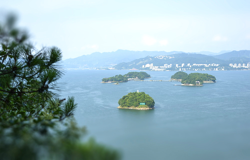 A cluster of islets at Thousand Islands Lake, Chunan, Zhejiang, China, Asia - 1171-252