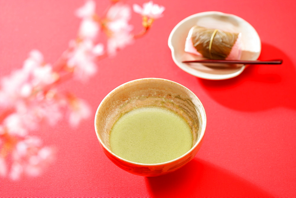 Japanese Green Tea With Cherry Blossom