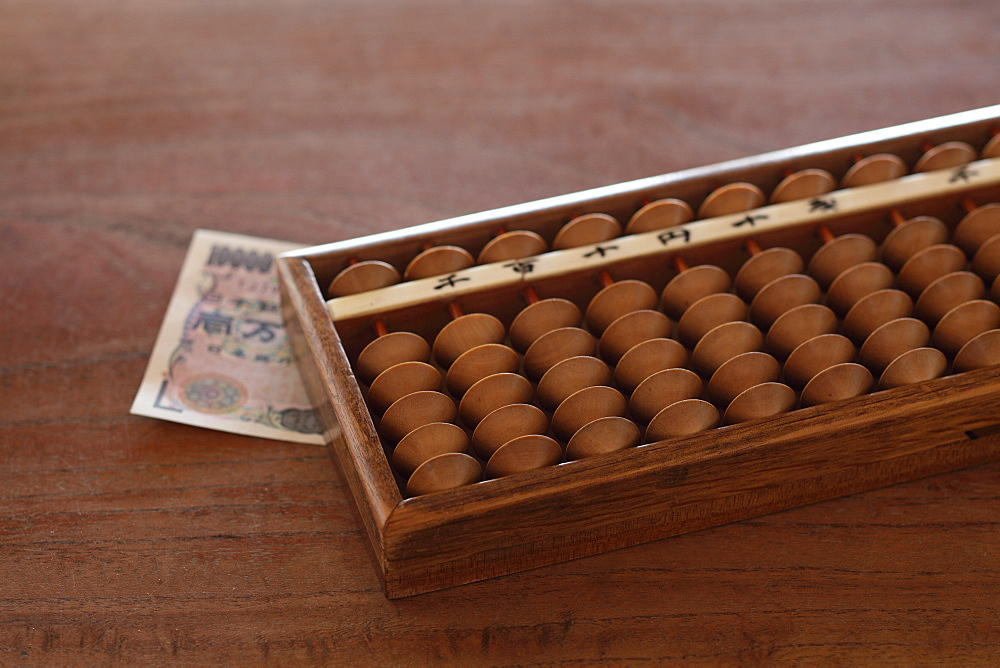 Traditional Japanese Soroban (Abacus)