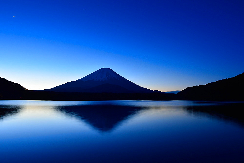 View Of Mount Fuji Before Dawn, Japan