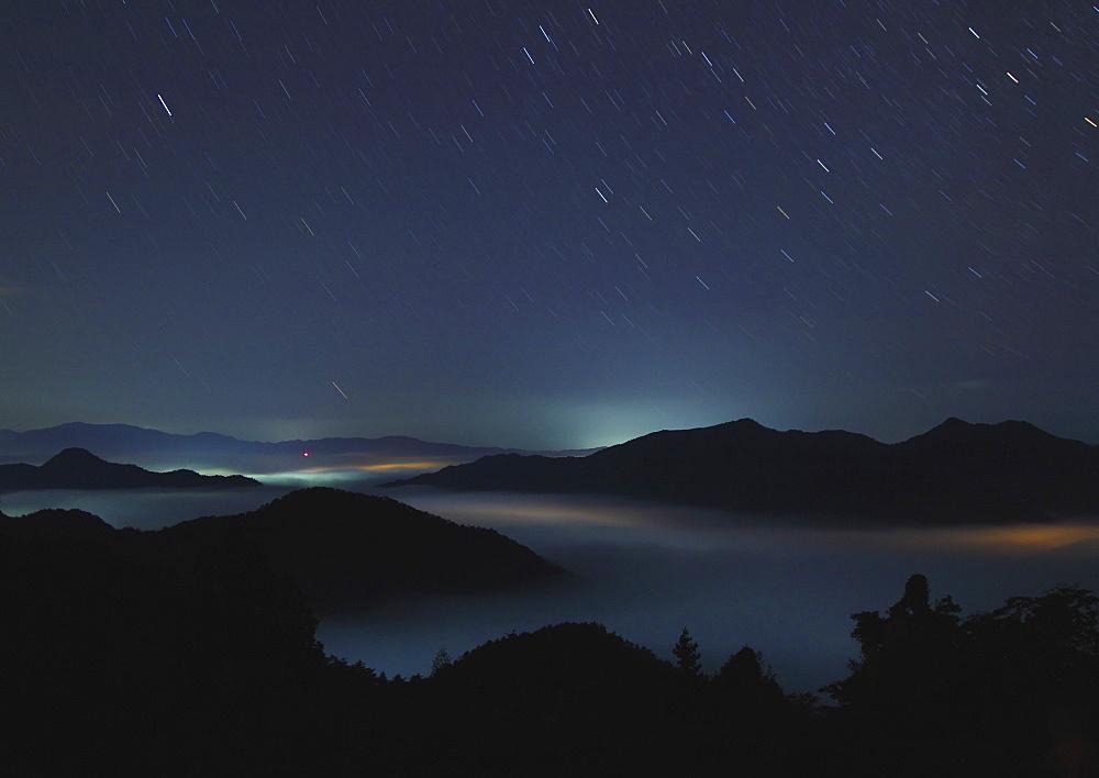 Izushi Town landscape at night