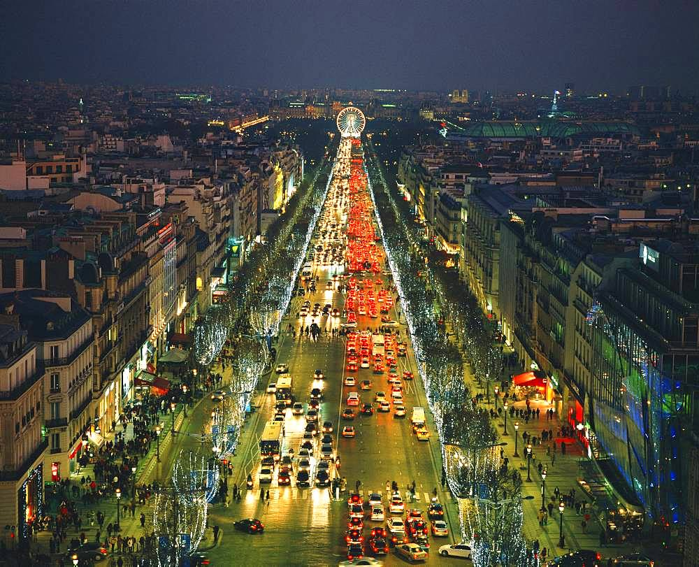 Champs Elysees Street, Paris, France