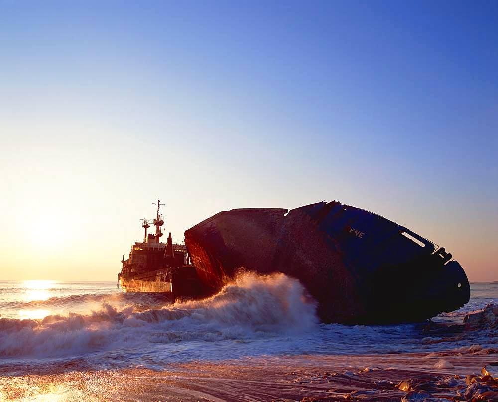 Stranding Ship, Miyagi, Japan