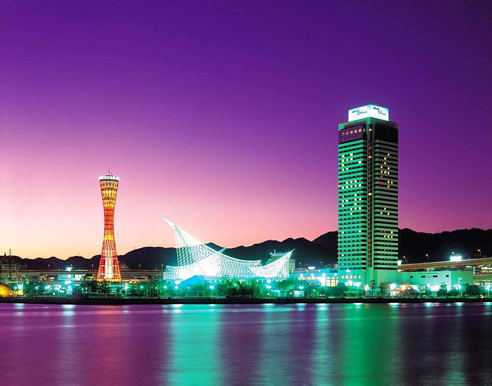 Kobe Port Tower, Hyogo Prefecture, Kobe, Japan