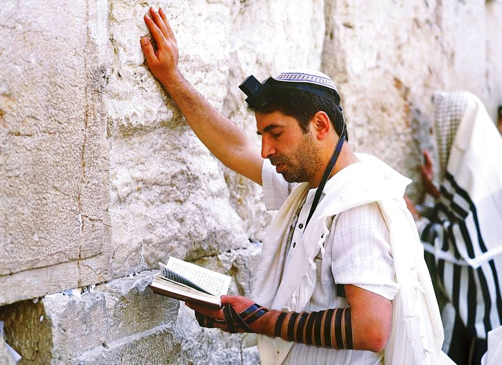 Worshipper in Western Wall