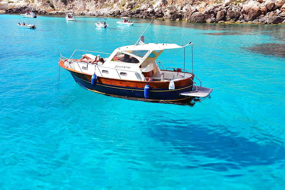 Boat in Lampedusa, Italy