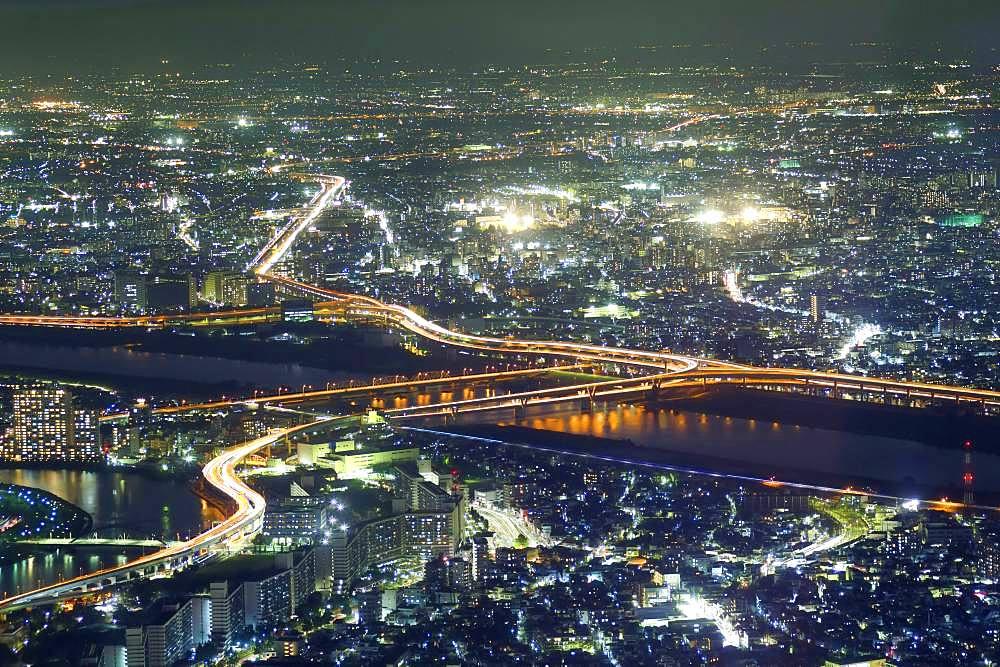 Tokyo night cityscape, Tokyo, Japan
