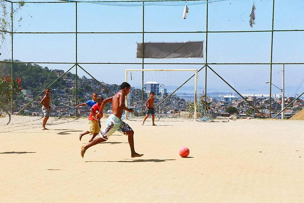 Soccer Field In Rio De Janeiro, Brazil