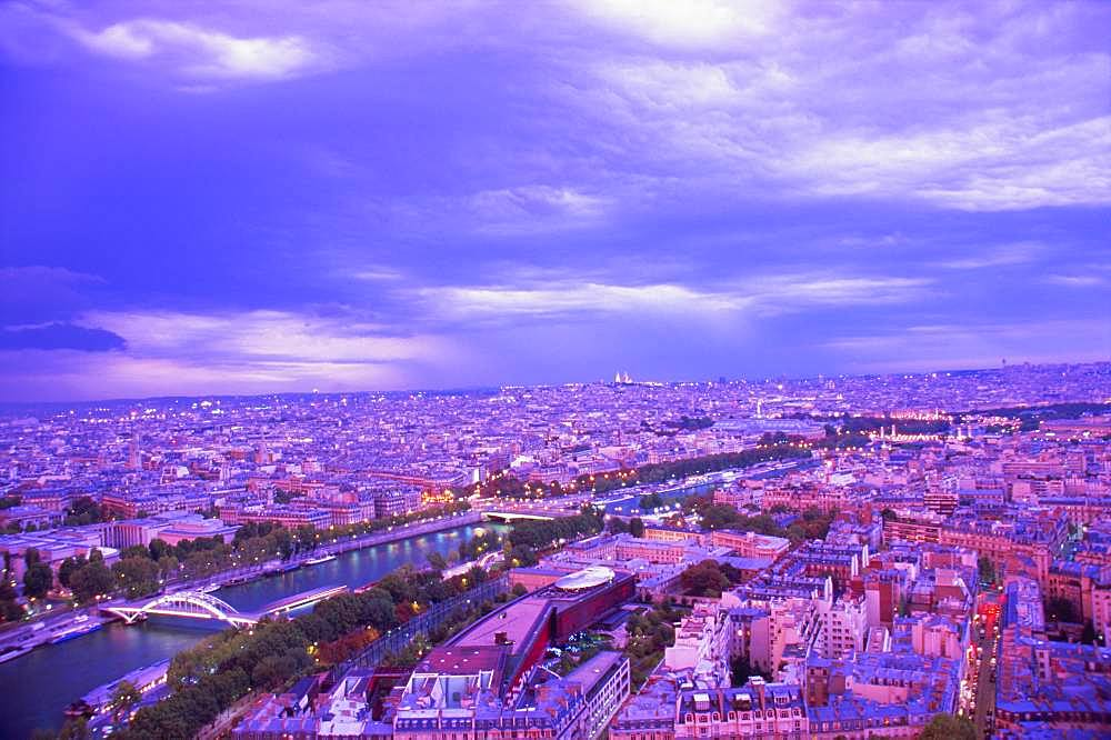 Seine River Sunset from the Eiffel Tower, Paris, France