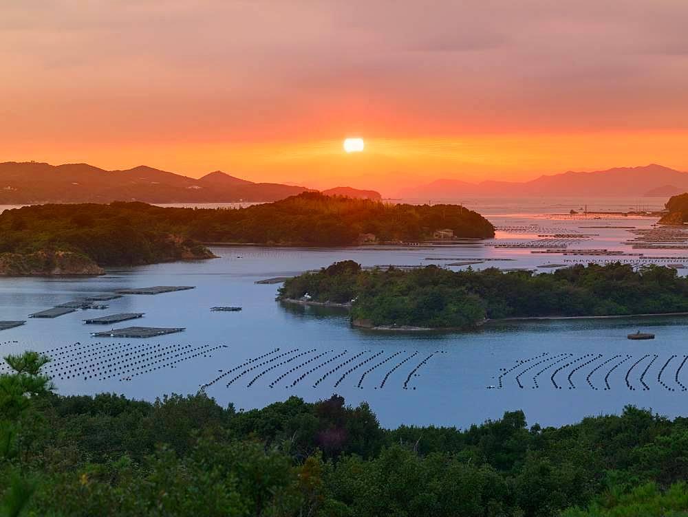 Ago Bay From Mt. Tomo, Mie, Japan