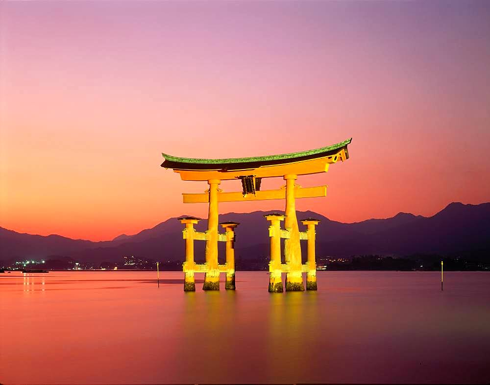 Ootorii at Night, Itsukushima, Hiroshima Prefecture, Japan