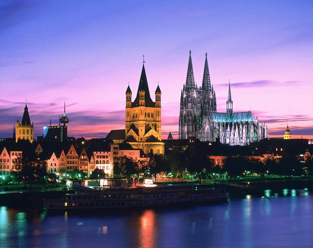 Kolner Dom At Evening, Germany