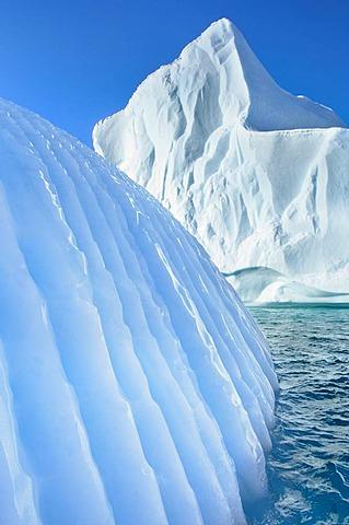 Striated Iceberg, Scoresby Sound, East Greenland