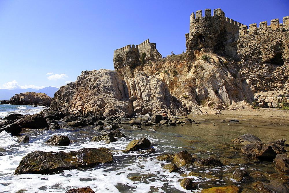 Ruins of Mamure Castle in Anamur, Mersin Province, Turkey