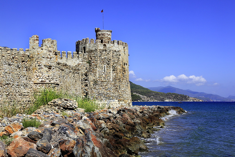 View of Mamure Castle in Anamur, Mersin Province, Turkey