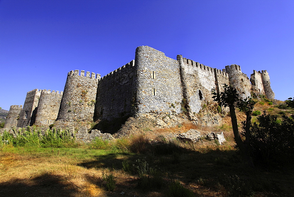 View of ruined Mamure Castle in Anamur, Antalya, Turkey