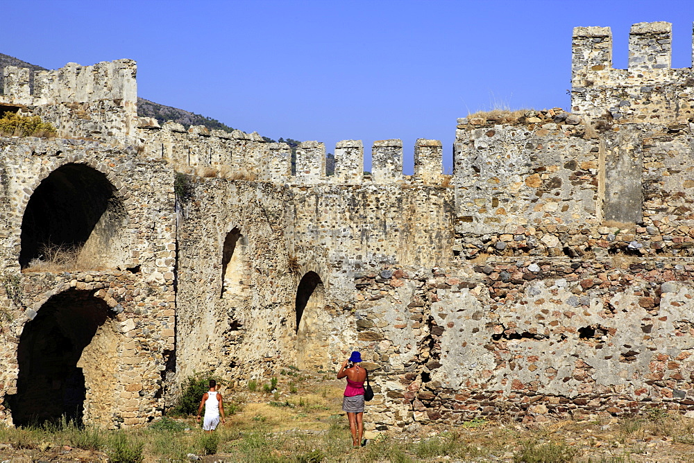 Ruins of Mamure Castle in Anamur, Mersin Province, Turkey