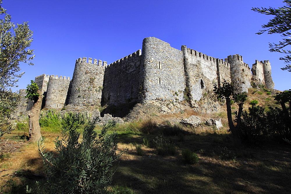 Mamure Castle in Anamur, Mersin Province, Turkey