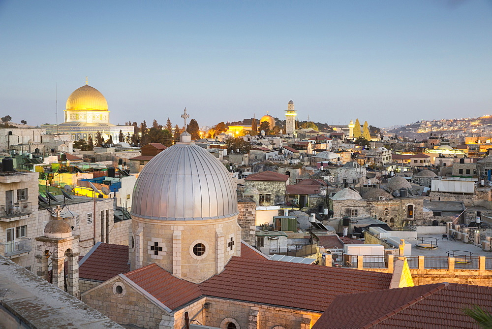 A view over Jerusalem from the Austrian Hospice, Israel