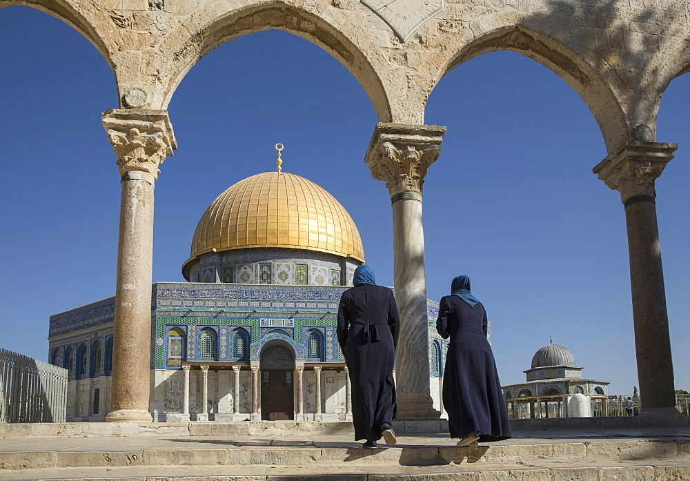 The Dome of the Rock on the Temple Mount, Jerusalem, Israel