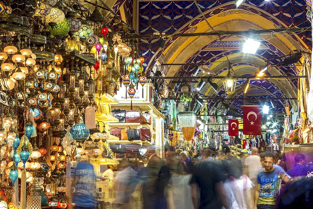 Large bazaar, Istanbul, Turkey