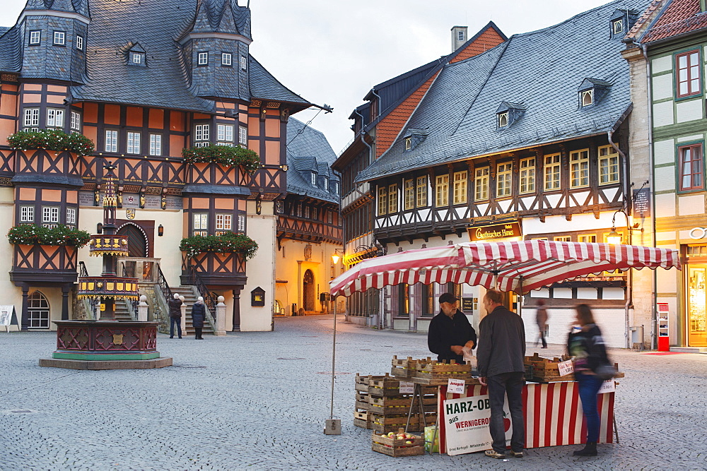 A market stand in Wernigerode, Harz, Germany