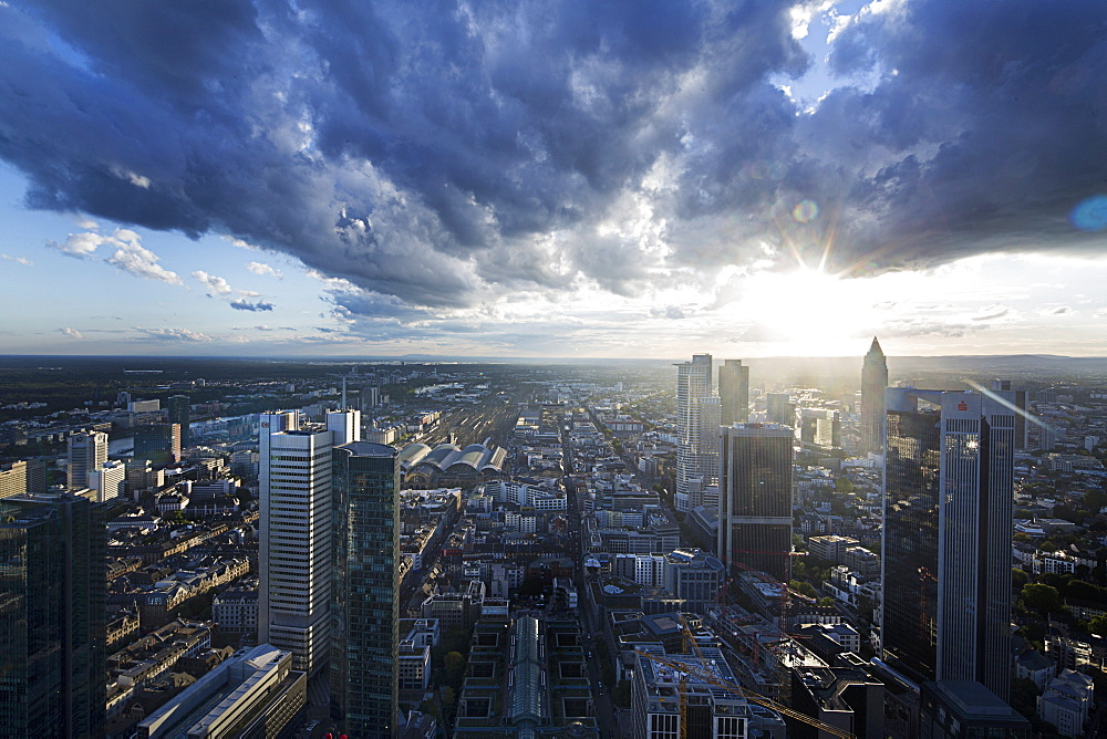 A view of the Main Tower, Frankfurt am Main, Germany
