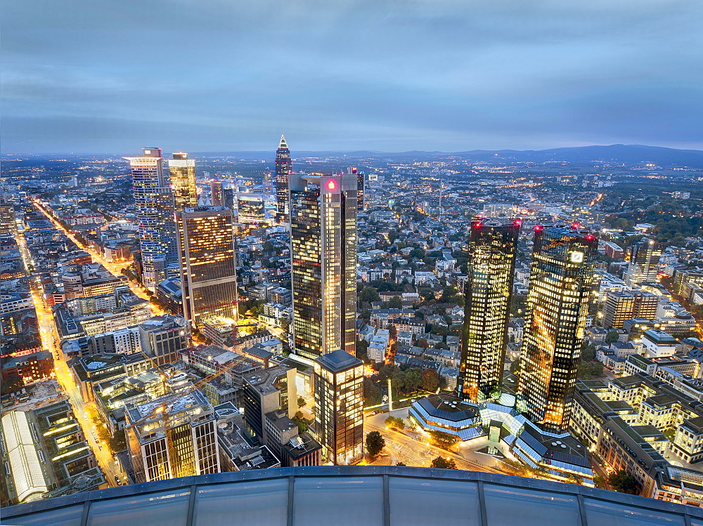 The skyline of Frankfurt am Main, Germany