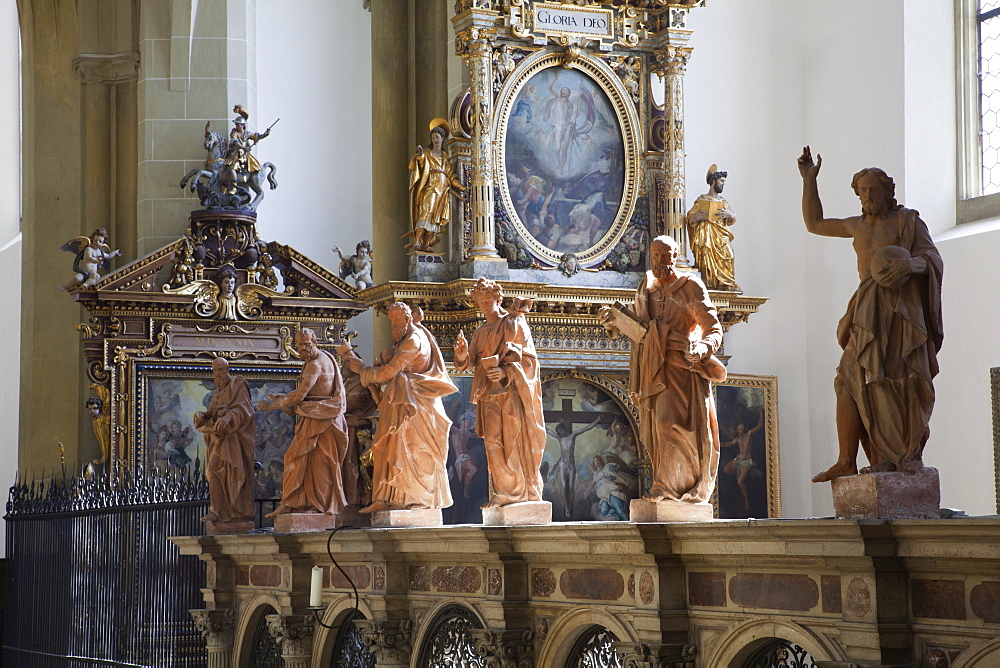 St. Ulrich's and St. Afra's Abbey in Augsburg, Bavaria, Germany