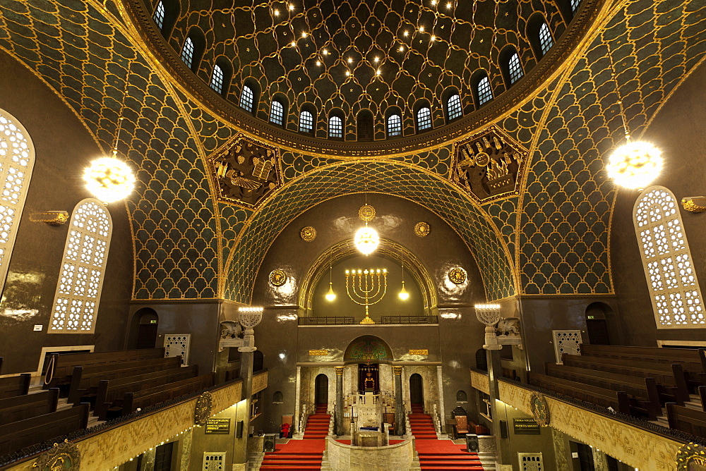 Interior of Synagogue dome in Augsburg, Bavaria, Germany