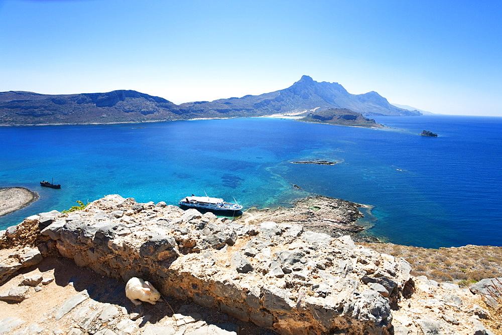 Island Gramvoussa and Tigani, Greece