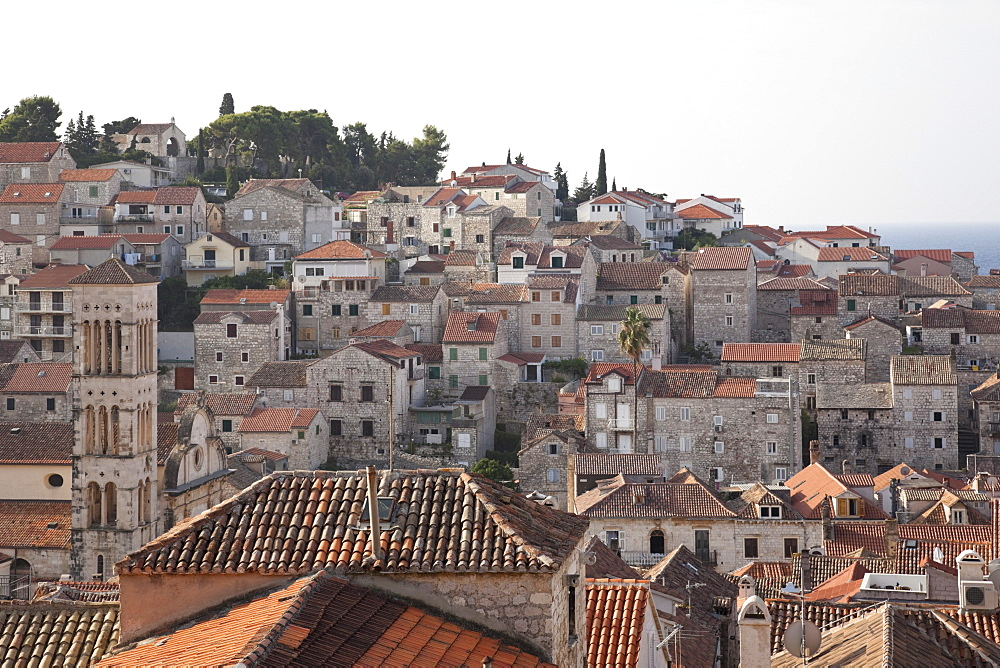 View of Hvar cityscape in Croatia