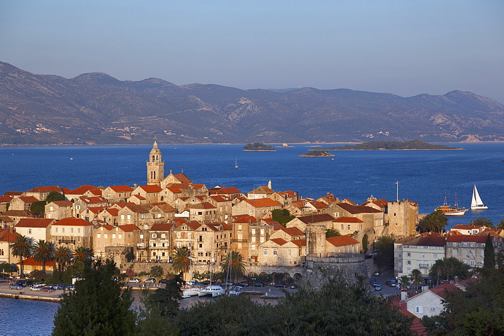 Port of Korcula island in Croatia
