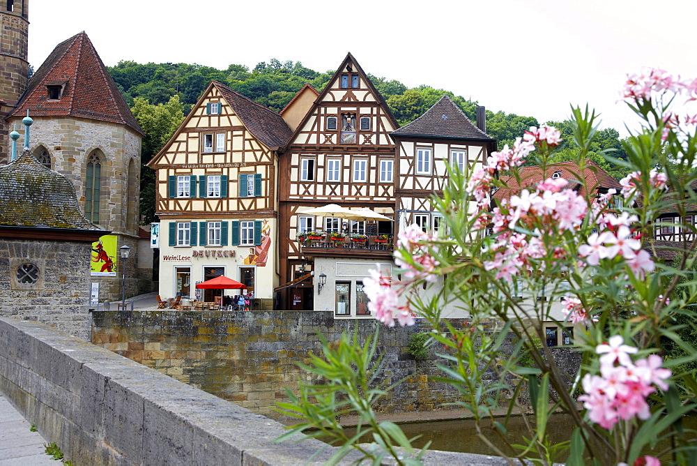View of Schwabisch Hall, Germany