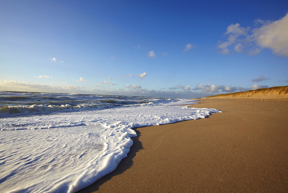 View of beach at Rantum, Sylt, Germany