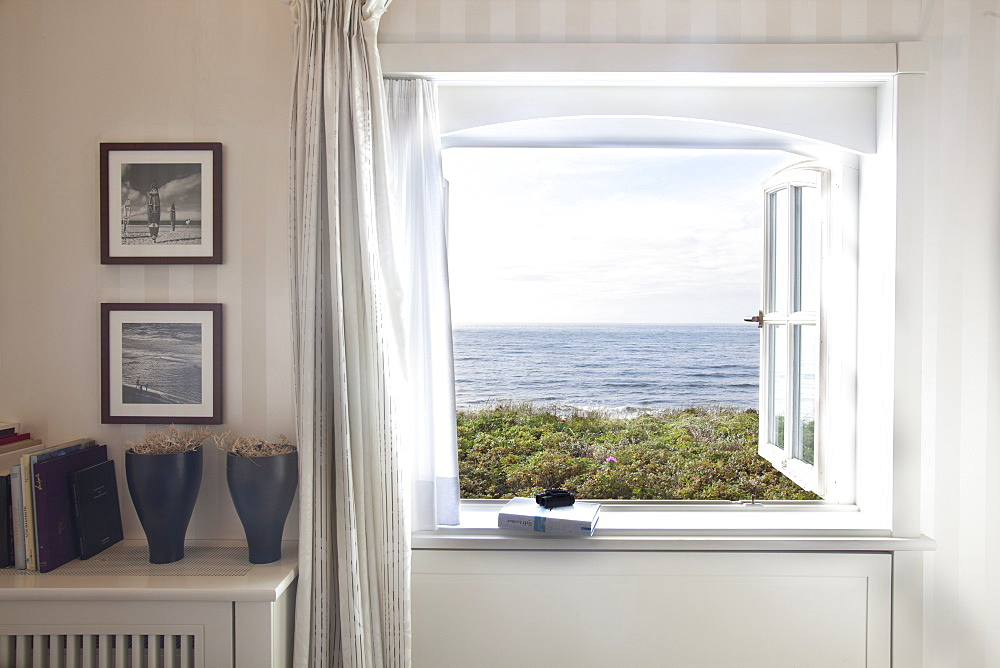 View of sea and trees from Dorint Sol'ring Hof room in Rantum, Sylt, Germany