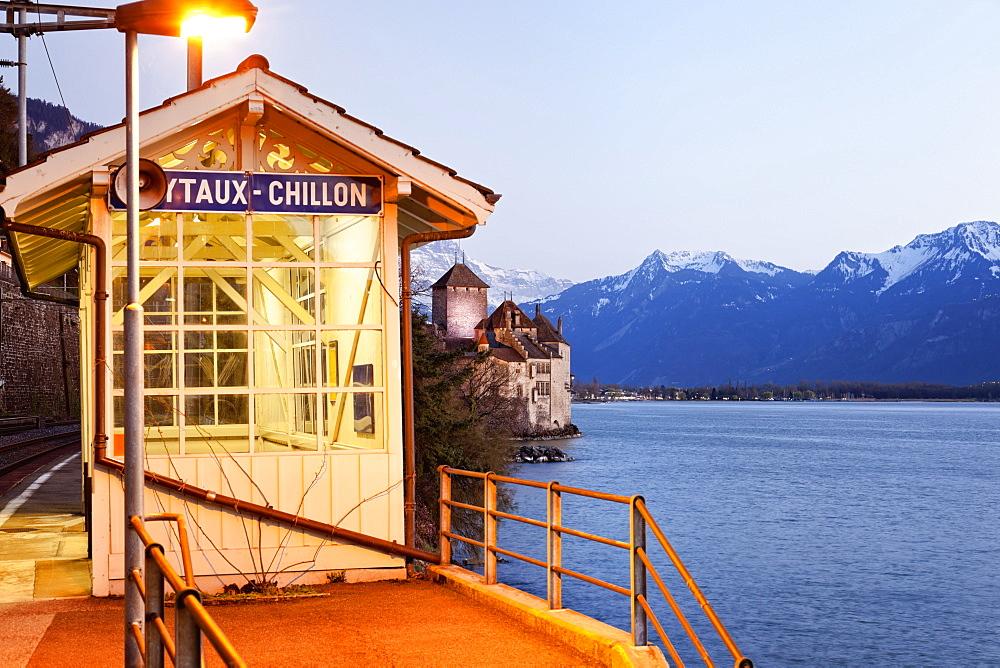 Dock near lake Geneva, Riviera-Pays-d'Enhaut, Vevey, Switzerland