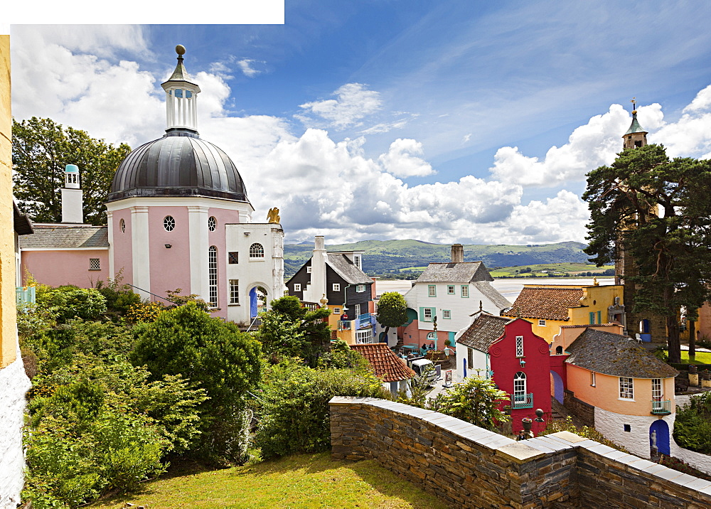 Dome gallery in Portmeirion village in Gwynedd, Wales, UK
